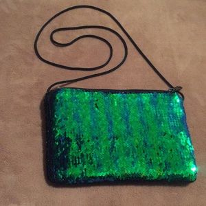 Multi sided sequin bag